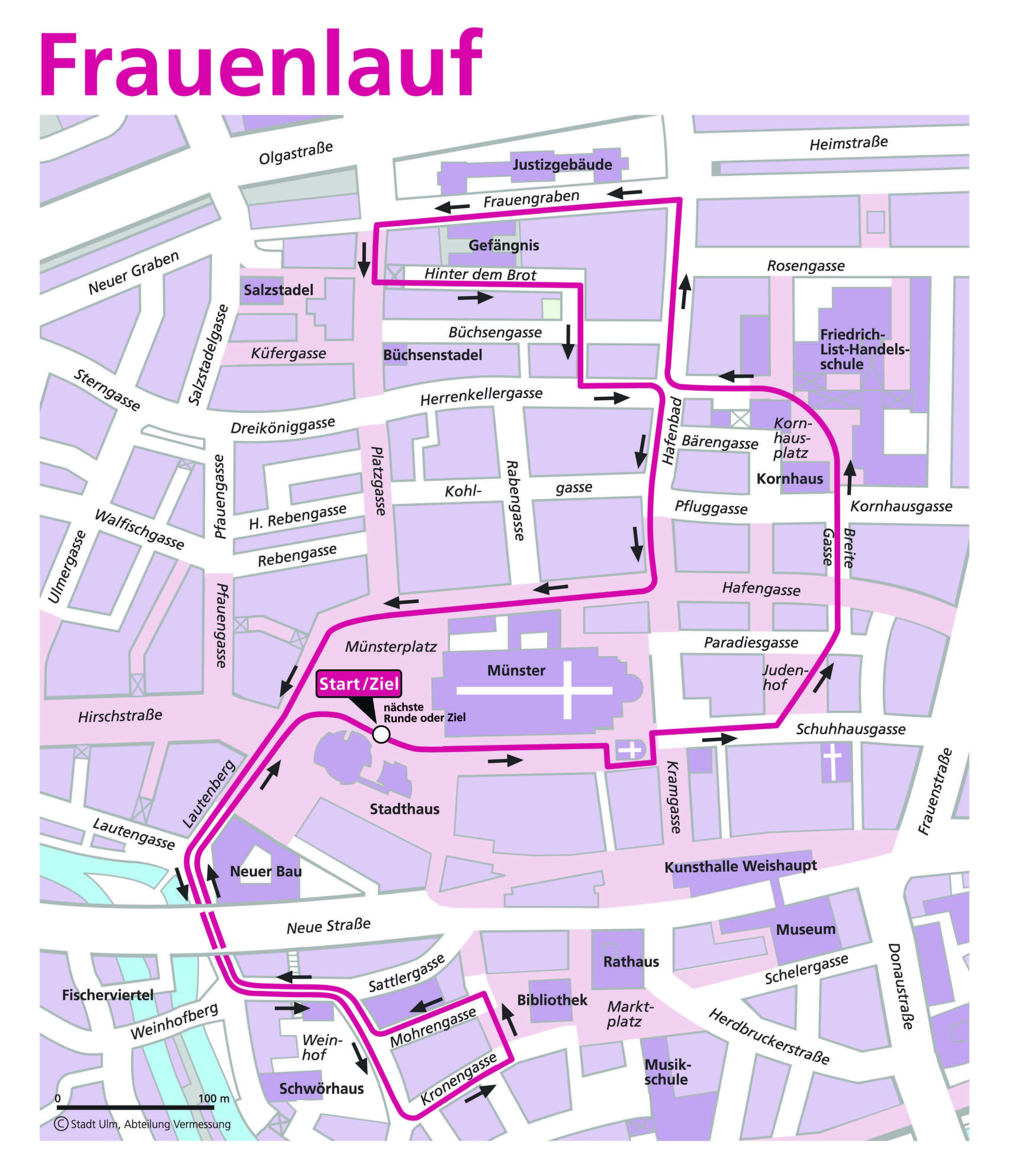 Strecke Und Zielbereich 6 Ulmer Frauenlauf
