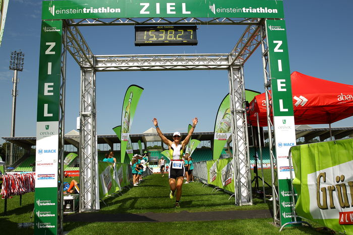 Einstein-Triathlon 2013 - Ziel